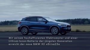 Der neue BMW X2 xDrive25e Trailer