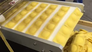 Machine makes over 600 pounds of ravioli per hour
