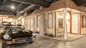 A mansion has a miniature town in its basement