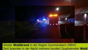Wieder Waldbrand in Gummersbach (NRW)!