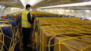 Corona-Krise in Spanien - Hilfsflüge aus China