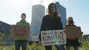 Proteste gegen Inbetriebnahme des Steinkohlekraftwerks Datteln 4