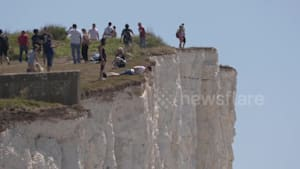 Keep back! People dice with death to take selfies on cliff edges in the UK