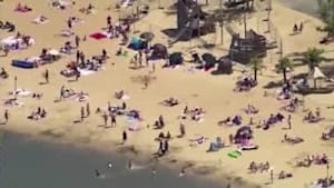 Brits crowd beaches despite warnings of COVID-19 resurgence