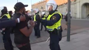 Stockholm: Solidarität mit Floyd und Jagdszenen