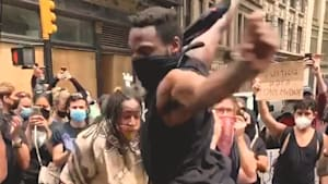 New Yorkers perform emotional dance during Black Lives Matter protest