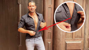 Dress shirt with hidden zipper allows for a better fit on men with athletic bodies