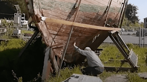 Watch this century-old yacht get refurbished