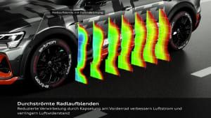 Aerodynamik des Audi e-tron S Sportback Prototyp Animation