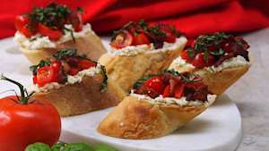 Best Bites: Creamy Feta & Bacon Bruschetta