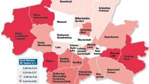 Wo und bei wem tritt Corona in München am häufigsten auf?