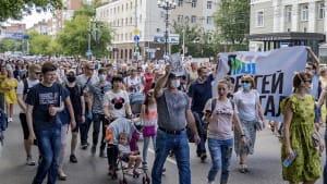 Russland: Massenproteste nach Festnahme Sergej Furgals