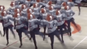 This high school dance team dressed as Pennywise