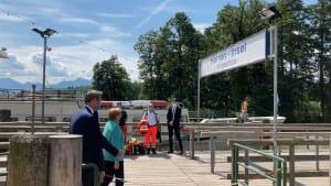 Angela Merkel und Markus Söder: Treffen am Chiemsee