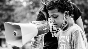 8-year-old boy organizes BLM protest for children