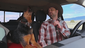 Man and dog sing duet on 'AGT'