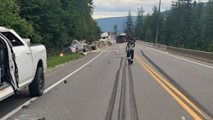 Dash-Cam Captures B.C. Tractor Trailer Wipeout
