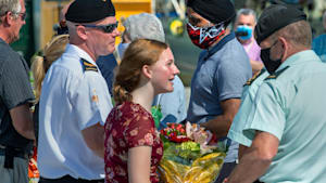 Crew Of HMCS Fredericton Comes Home To Warm Welcome