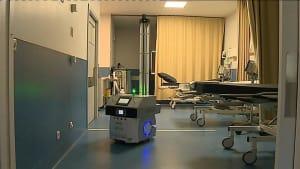 [CDATA[Blitzsauber und keimfrei - Portugal testet Desinfektionsroboter im Krankenhaus]]