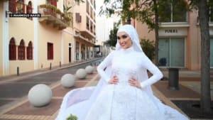 """""""Ich dachte, ich müsse sterben"""": Video der Braut aus Beirut geht viral"""