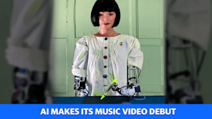 AI makes its music video debut