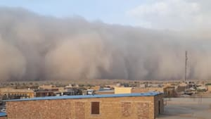 Massive haboob! Wall of dust engulfs Indian city