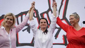Belarus: Drei Frauen wollen Präsident Lukaschenko in die Suppe spucken