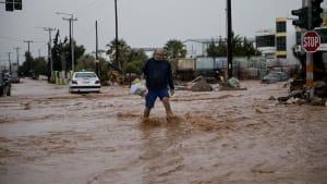 Tödliche Unwetter im Feriengebiet Euböa in Griechenland