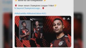 """FC Bayern stellt ein Champions-League-Trikot vor - Fans gespalten: """"Des is gscheid greislig"""""""