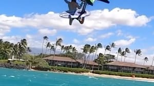 Wing surfers get crazy air while doing insane tricks