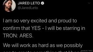 Verplappert: Jared Leto verrät versehentlich Titel von 'Tron 3'