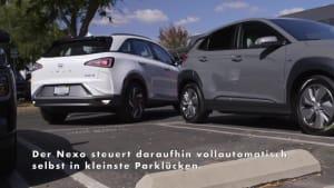 Der Hyundai Nexo - Automatischer Einparkassistent mit Fernbedienung übernimmt das Rangieren