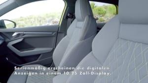 Der Audi S3 Sportback - der Innenraum