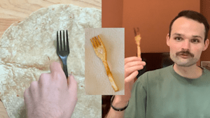 How to make a reusable fork out of a tortilla