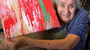 89-year-old Mexican abuela goes viral on TikTok for her unique fluid paintings