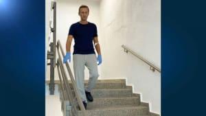 Treppenübung - neues Bild von Alexej Nawalny