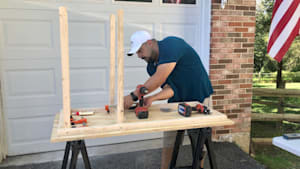 These dads are building desks for students during virtual learning