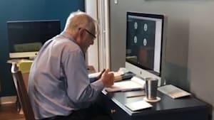 91-year-old professor goes viral as he teaches remotely during the pandemic
