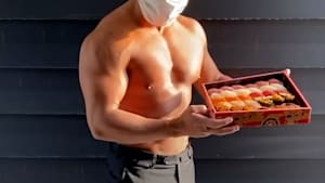 Sushi restaurant uses jacked bodybuilders to deliver food