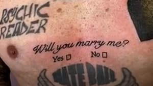 U.K. man gets proposal tattoo on his chest to pop the question