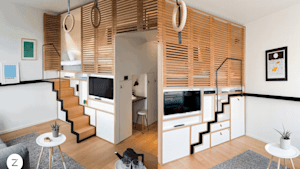 This hotel room is the pinnacle of tiny houses