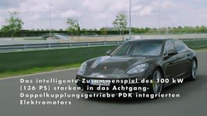 Der neue Porsche Panamera 4S E-Hybrid Sport Turismo mit 17,9-kWh-Batterie und bis zu 54 km E-Reichweite