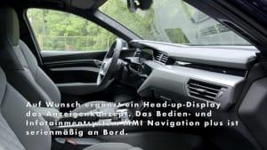 Der Audi e-tron S Sportback - der Innenraum und die Ausstattung
