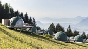Umweltfreundlicher Luxus in den Bergen: Das Whitepod-Hotel