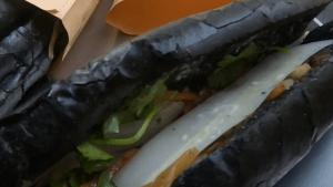 Vietnamese restaurant creates sandwiches with black bread