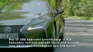 Neues Lexus LC Cabriolet Highlights