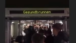Corona-Party in Berliner U-Bahn