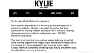 Sicherheitslücke: Kylie Jenners Kosmetik-Firma im Visier der Datendiebe