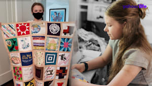 13-year-old honors coronavirus victims with 'COVID Memorial Quilt'