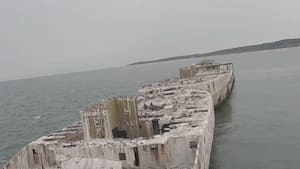 Drone footage shows ghost ships off the coast of Virginia